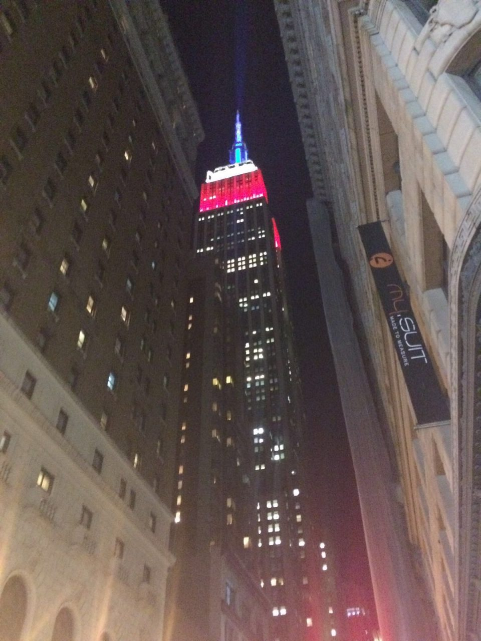 Empire state Building illuminato