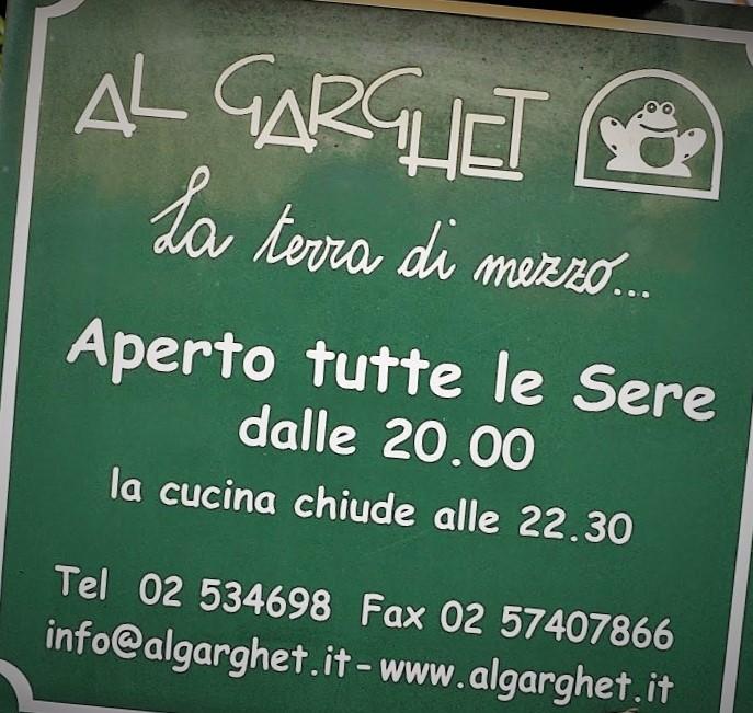 insegna Al Garghet