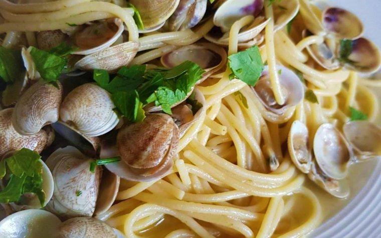 Spaghetti ai lupini (Vongole)  – #WorldPastaDay
