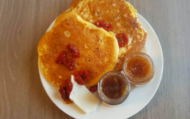 Pancake Pomodorini secchi e feta-Agriblea