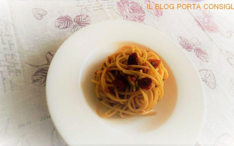 Spaghetti con Pomodori Secchi Agriblea
